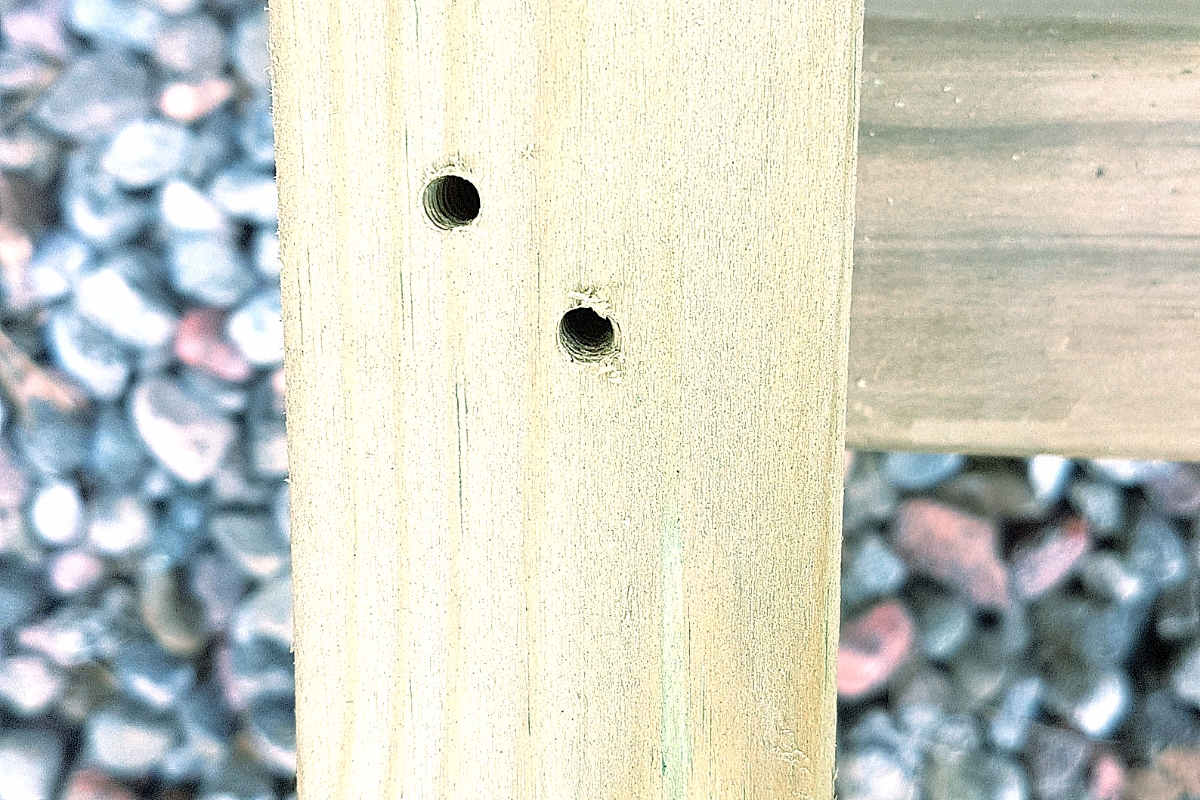 drill holes in wood