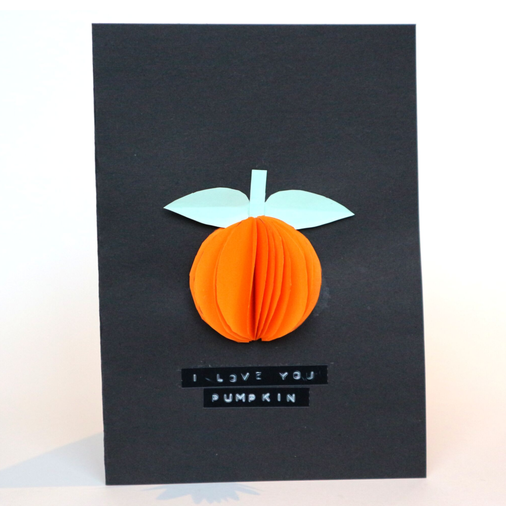 3D pumpkin halloween card