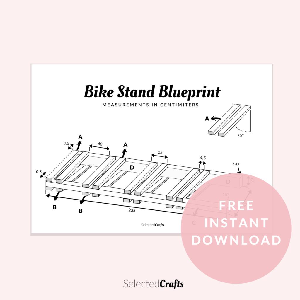 Bike stand blue print