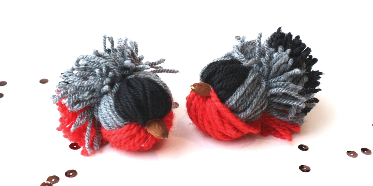 Christmas Yarn Bird Ornaments