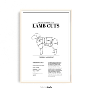 Lamb cuts white celsius